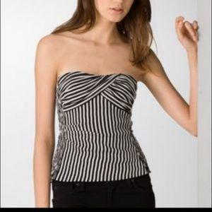 Nanette Lenore stripe strapless top